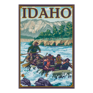 White Water Rafting - Idaho Poster