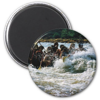 White Water Rafting Refrigerator Magnets