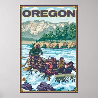 White Water Rafting - Oregon Poster