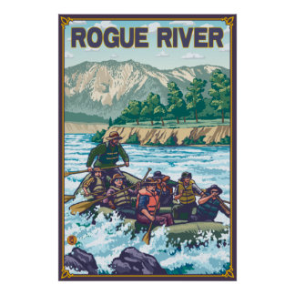White Water Rafting - Rogue River, Oregon Poster
