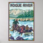 White Water Rafting - Rogue River, Oregon Print