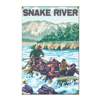 White Water Rafting - Snake River, Idaho Canvas Print