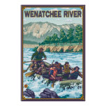 White Water Rafting - Wenatchee River, WA Poster