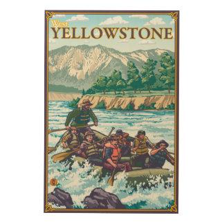 White Water Rafting - West Yellowstone, Montana Wood Wall Art