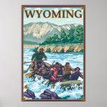 White Water Rafting - Wyoming Poster