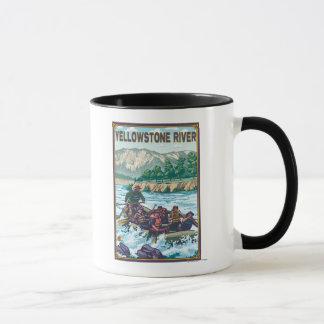 White Water Rafting - Yellowstone River, Montana Mug