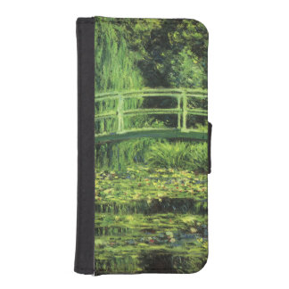 White Waterlilies by Claude Monet, Vintage Art iPhone SE/5/5s Wallet Case