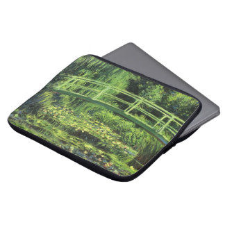 White Waterlilies by Claude Monet, Vintage Art Laptop Computer Sleeves