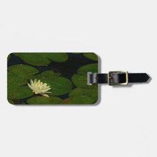 White Waterlily I Peaceful Floral Photography Luggage Tag