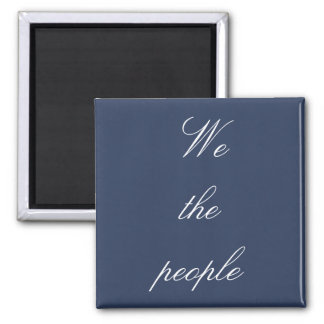 White We the people Magnet