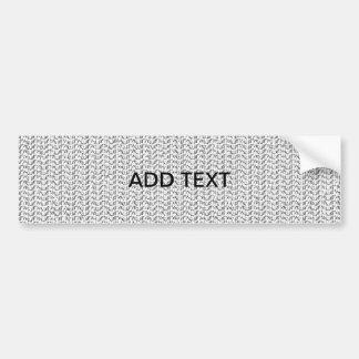 White Weave Look Car Bumper Sticker