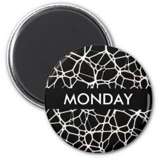 White Web Texture + your bachgr. & ideas 2 Inch Round Magnet