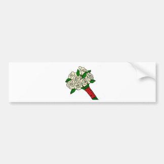 White Wedding Bouquet Bumper Sticker