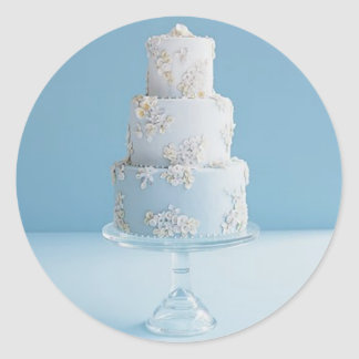 White Wedding Cake Sticker