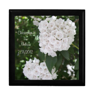 White Wedding CUSTOMIZE NAMES Large Keepsake Box
