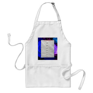 White Wedding Gown Blue Purple Roses Apron Aprons