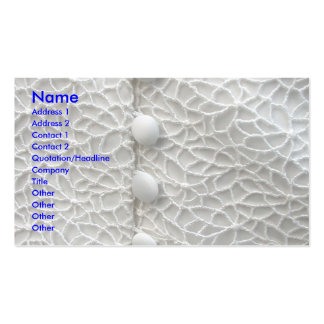 White Wedding Gown Double-Sided Standard Business Cards (Pack Of 100)