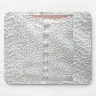 White Wedding Gown Mousepad - Customizable Mousepad