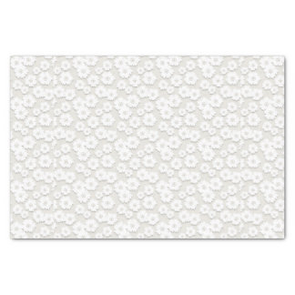 White Wedding Lace Daisy Tissue Paper