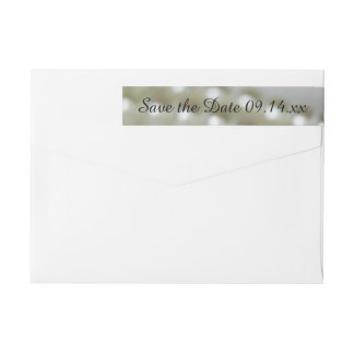 White Wedding Pearls Save the Date Wrap Around Label