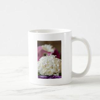 White Wedding Roses Coffee Mugs