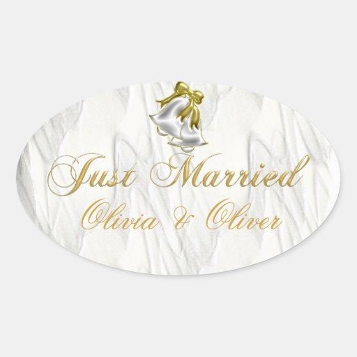 White Wedding Sticker