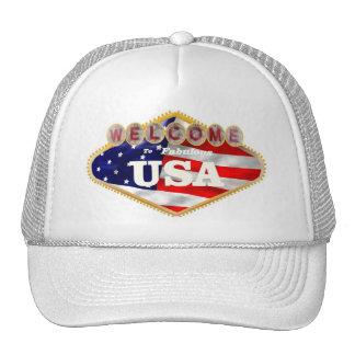 White Welcome to Fabulous USA Cap Mesh Hat