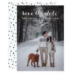 White Whimsical Script Photo Save The Date 13 Cm X 18 Cm Invitation Card