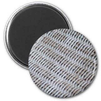 White Wicker 6 Cm Round Magnet