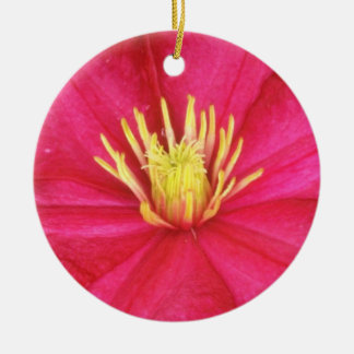 White Wide open flowers Christmas Tree Ornament