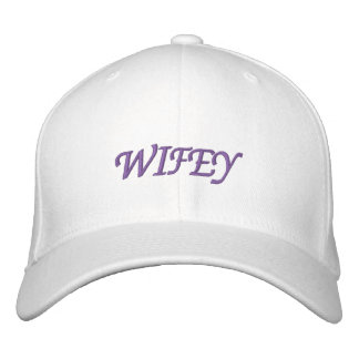 White Wifey Cap Embroidered Cap