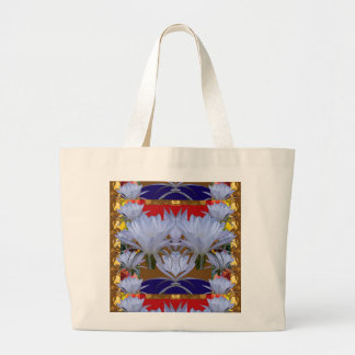 WHITE Wild Lilly Flowers  Greetings gifts bLESSING Bags