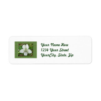 White Wild Violet Coordinating Items Return Address Label