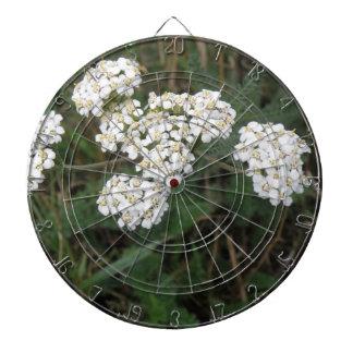 White Wildflowers Dart Board