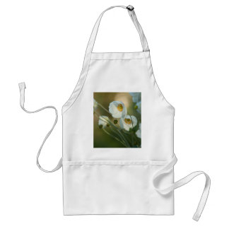 white windflowers in a natural display adult apron