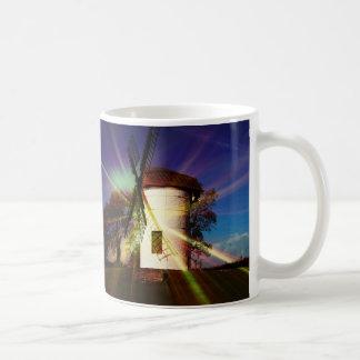 White Windmill Mug. Coffee Mug