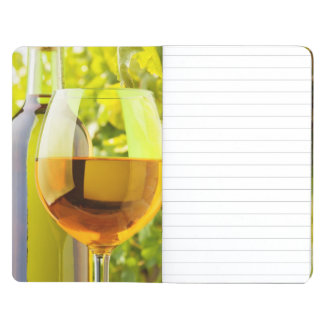 White Wine And Grapes Journal