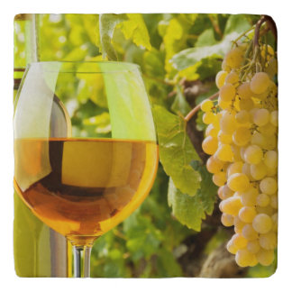 White Wine And Grapes Trivet
