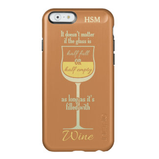 White Wine Glass custom monogram cases