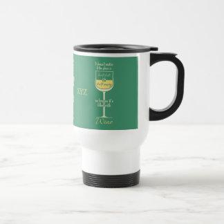 White Wine Glass custom monogram mugs