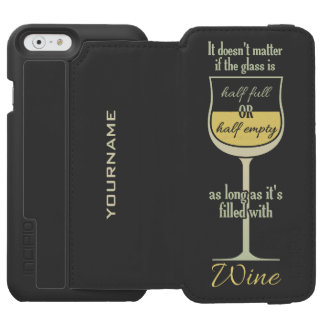 White Wine Glass custom monogram wallet cases Incipio Watson™ iPhone 6 Wallet Case