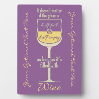 White Wine Glass custom plaque