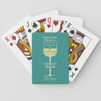 White Wine Glass playing cards