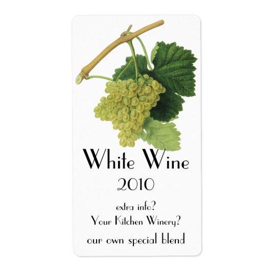 White Wine Grapes on the Vine, Vintage Food Fruit