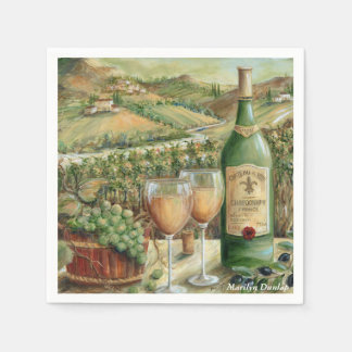 White Wine Lovers Disposable Serviettes