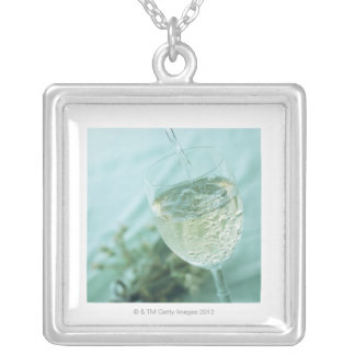 White Wine Silver Plated Necklace