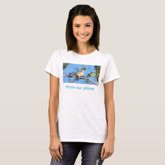 White wing dove share the planet t-shirt