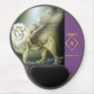 White Winged Lion Mousepad Gel Mouse Mat