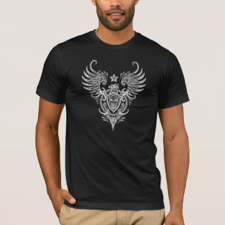 White Winged Shield with Sugar Skull T-Shirt