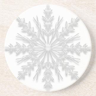 White Winter Snowflake Coaster